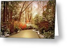 Winter Greets Autumn Greeting Card