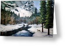 Winter Half Dome Greeting Card