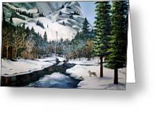Winter Half Dome Greeting Card