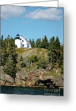 Winter Harbor Lighthouse Greeting Card