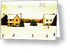 Winter Hockey Greeting Card