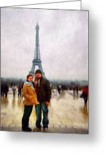 Winter Honeymoon In Paris Greeting Card
