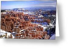 Winter Hoodoos Greeting Card