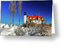 Winter Ice At Point Betsie Greeting Card
