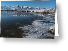 Winter Ice Flows Greeting Card