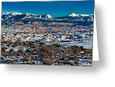 Winter In Arches National Park Greeting Card