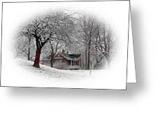 Winter In Bridgeton Greeting Card