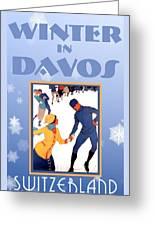 Winter In Davos Greeting Card