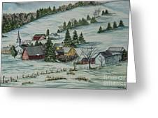 Winter In East Chatham Vermont Greeting Card