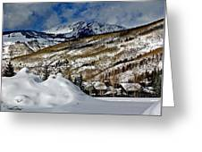 Winter In East Vail Greeting Card
