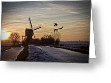 Winter In Holland-1 Greeting Card
