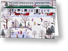 Winter In Jackson New Hampshire Greeting Card