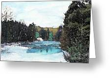 Winter In Kalkaska Greeting Card