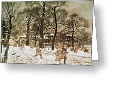 Winter In Kensington Gardens Greeting Card