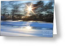 Winter In Motion Greeting Card