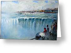 Winter In Niagara Falls Greeting Card