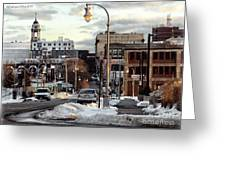 Winter In Portland Greeting Card