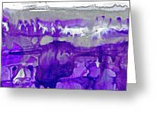 Winter In Purple And Silver Greeting Card
