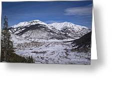 Winter In Silverton Colorado Greeting Card