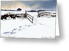 Winter In Stainland Greeting Card
