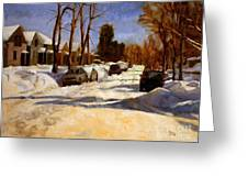 Winter In The Highlands Greeting Card