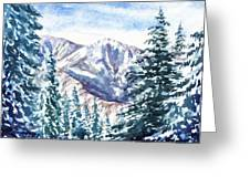 Winter In The Mountains  Greeting Card