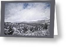 Winter In The Valley Greeting Card
