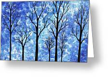 Winter In The Woods Abstract Greeting Card