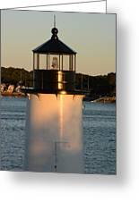 Winter Island Lighthouse At Sunset, Salem, Massachusetts Greeting Card