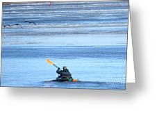 Winter Kayak Greeting Card