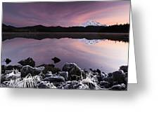 Winter Lake Frost Greeting Card