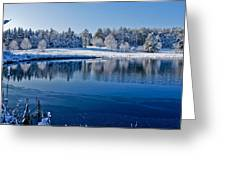 Winter Lake Scene 2 Greeting Card