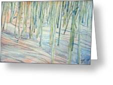 Winter Landscape 1 Greeting Card by Lloyd Bast