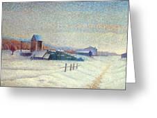 Winter Landscape 1885 Greeting Card