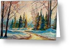 Winter Landscape Knowlton Quebec Greeting Card