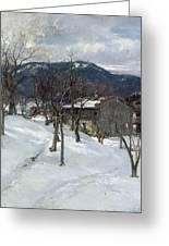 Winter Landscape Near Kutterling Greeting Card