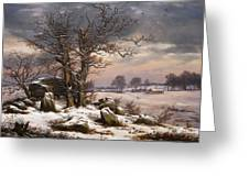 Winter Landscape. Near Vordingborg Greeting Card