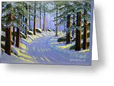 Winter Landscape Study 1 Greeting Card