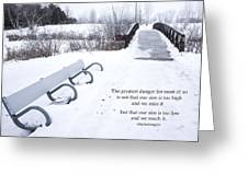 winter landscape with Inspirational Text Greeting Card
