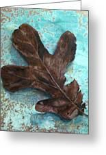 Winter Leaf Greeting Card
