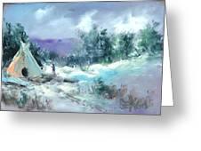 Winter Lodge Greeting Card