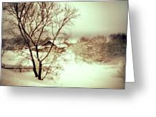 Winter Loneliness Greeting Card by Jenny Rainbow