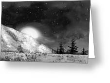 Winter Magic In Black And White Greeting Card