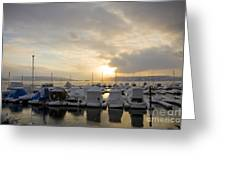 Winter Marina Greeting Card