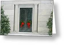 Winter Mausoleum Greeting Card
