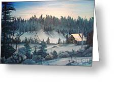 Winter Meadow Greeting Card