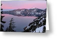 Winter Mirror At Crater Lake Greeting Card