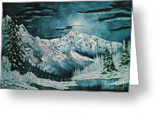 Winter Moon 2 Greeting Card