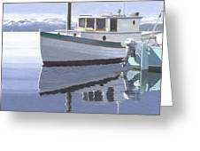 Winter Moorage Greeting Card