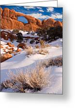 Winter Morning At Arches National Park Greeting Card